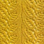 Leaf lace stitch for knitting