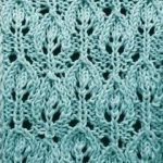 Leaves in a row knitting stitch