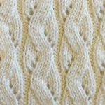 Mock cable eyelet knit stitch