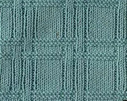 Plaid Texture Knitting Stitch
