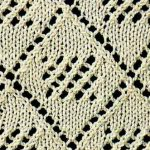 Square in a Diamond Lace Knitting Stitch