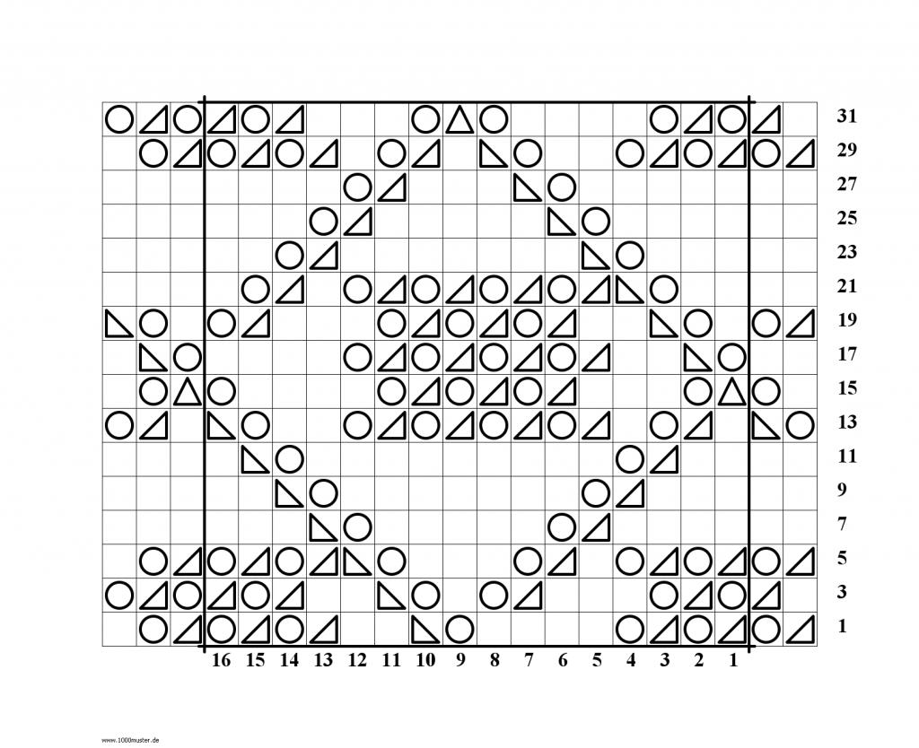 Square in a Diamond Lace Knitting Stitch Chart - Knitting Kingdom