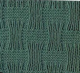 Stingy Basket Weave Knit Stitch