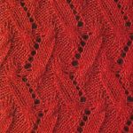 Strange Chevron Free Knitting Stitch