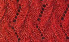 Strange Chevron Free Knitting Stitch