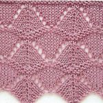 Triangles Lace Knitting Stitch