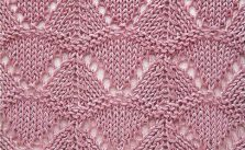 Triangles Lace Knitting Stitch