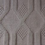Vertical Diamonds Knit and Purl Stitch