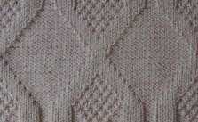 Vertical Diamonds Knit and Purl Stitch