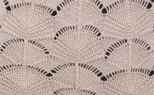 Circle fan knitting stitch