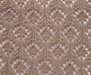Open lace drops knitting stitch