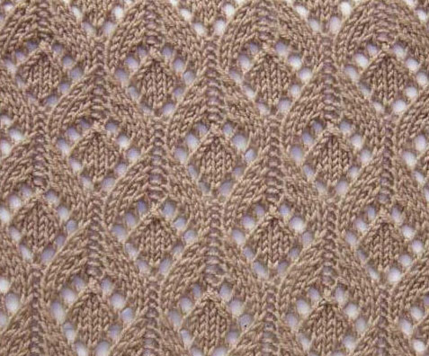 Open lace drops knitting stitch