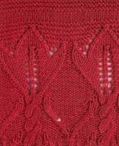 Lace Leaf and Cable Knitting Stitch