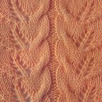 Leaf lace stitch openwork