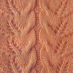 Leaf lace stitch openwork
