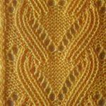 Yellow Eyelet Lace Knit Stitch Chart