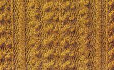 Bobble panel Knit Stitch