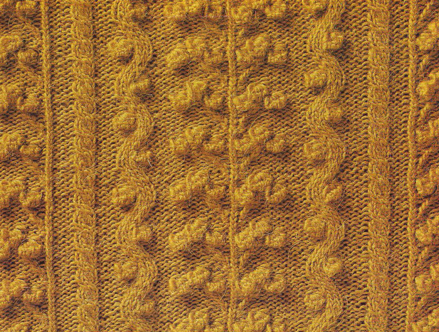 Bobble panel Knit Stitch