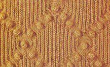 Bobbles and Diamonds Knitting Stitch