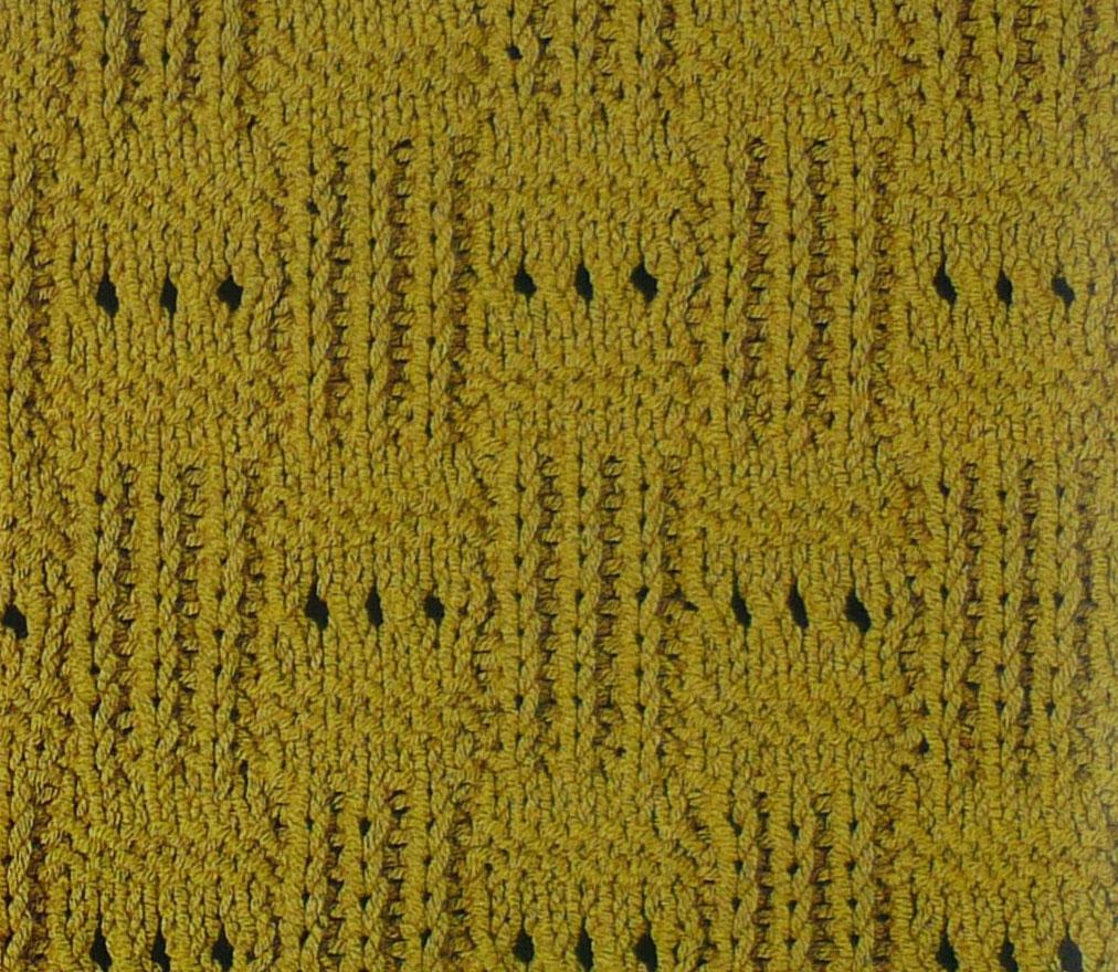 Checkered Twist Stitch Knit Knitting Kingdom