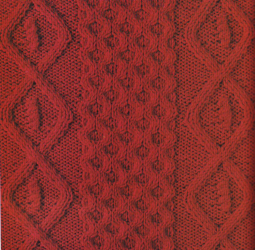 Diamond and Honeycomb Knitting Stitch Panel