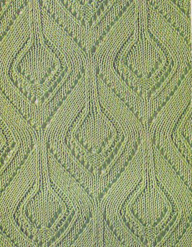 Diamond Lace Knitting Stitches : Diamonds Lace Knitting Stitch - Knitting Kingdom