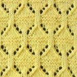 Eyelet Oval Lace Knitting Stitch