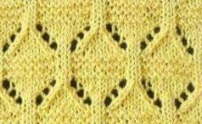 Eyelet Oval Lace Knitting Stitch