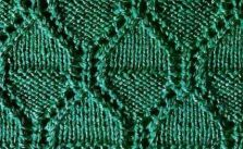 Free Knit Stitch Rhombus