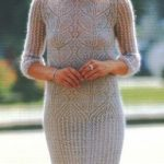 Lace Leaf Mohair Dress Knitting Pattern