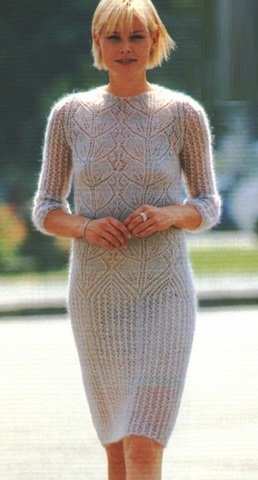 Lace Leaf Mohair Dress Knitting Pattern Knitting Kingdom