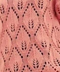 Large Leaf Lace Knitting Stitch