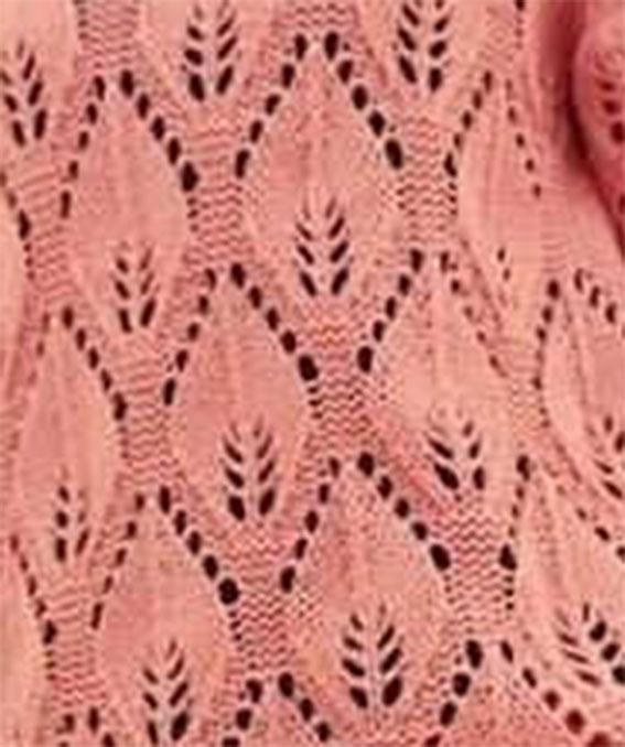 Large Leaf Knitting Pattern : Large Leaf Lace Knitting Stitch - Knitting Kingdom