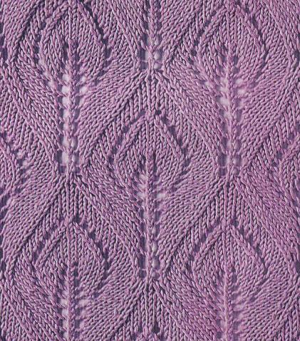 Leaf In A Flame Knitting Stitch Knitting Kingdom