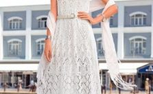 Maxi Knitted Dress With Shetland Lace Pattern