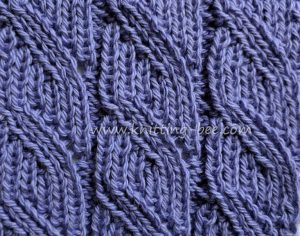 Ribbed Lace Free Knitting Stitch