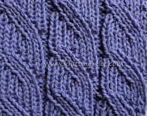 Ribbed Lace Free Knitting Stitch