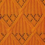 Ribbed Diamond Knitting Stitch