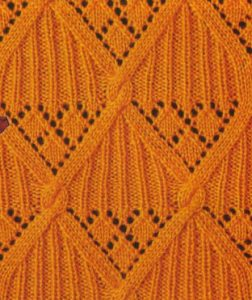 Ribbed Diamond Knitting Stitch