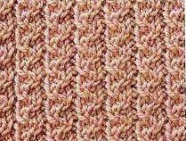 Twisted Columns Knit Stitch