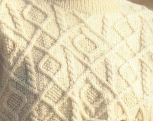 Aran Diamonds Sweater and Stitch
