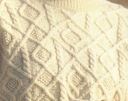 Aran Diamonds Sweater And Stitch Knitting Kingdom