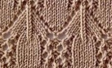 Lace and arches knit stitch