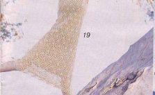 Lace tunic dress knitting pattern