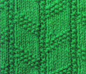 Chevron Columns Knit Purl Stitch