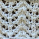 Chevron Rib Lace Knit Stitch