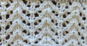 Chevron Rib Lace Knit Stitch