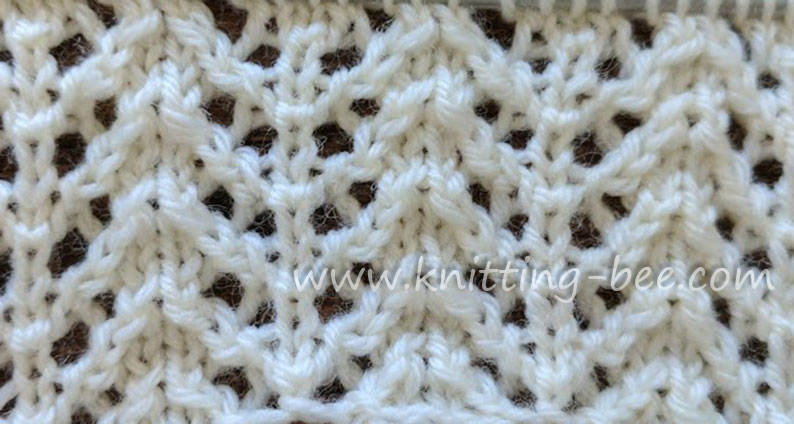 Chevron Rib Lace Knit Stitch Knitting Kingdom