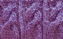 Cable and Garter Knitting Stitch