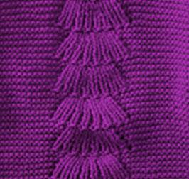 Center Fan Knitting Stitch Panel